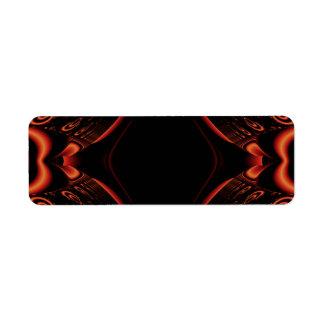 Diseño abstracto rojo y negro etiqueta de remitente