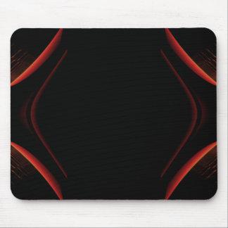 Diseño abstracto rojo y negro alfombrillas de raton