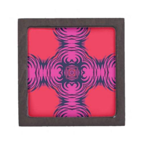 Diseño abstracto rosado y azul rojo cajas de regalo de calidad
