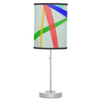 Diseño abstracto simple gris caliente lámpara de mesa