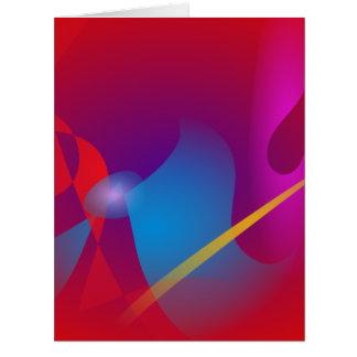Diseño abstracto simple rojo vivo felicitacion