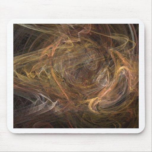 Diseño abstracto sublime de Brown Alfombrilla De Ratón