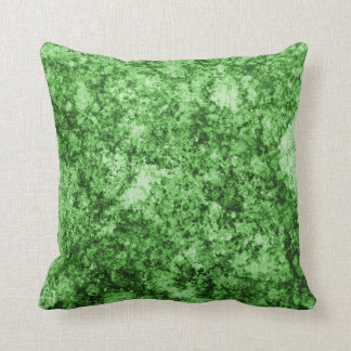 Diseño abstracto sucio verde almohada