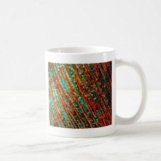 Diseño abstracto taza básica blanca