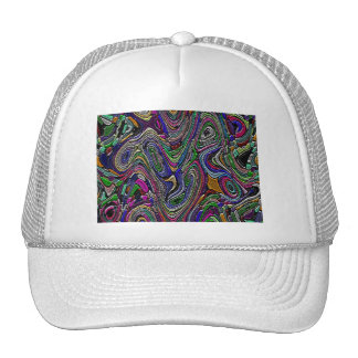 Diseño abstracto texturizado gorras de camionero