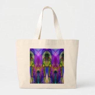 Diseño abstracto transparente manchado colorido bolsas