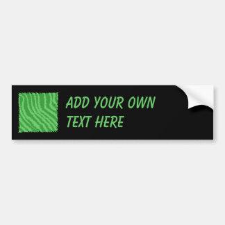 Diseño abstracto verde pegatina de parachoque