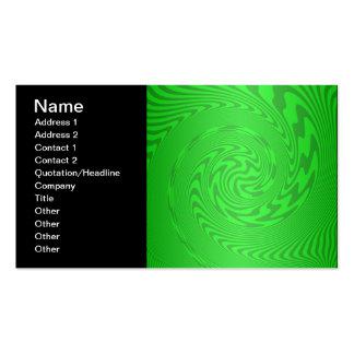 Diseño abstracto verde claro plantillas de tarjetas de visita