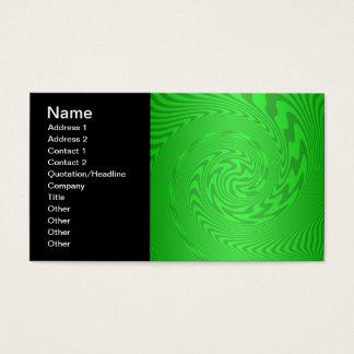 Diseño abstracto verde claro tarjeta de negocios