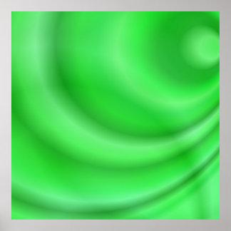 Diseño abstracto verde póster