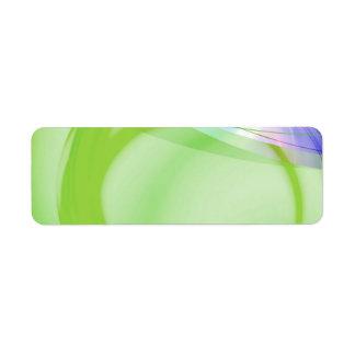 Diseño abstracto verde y azul etiquetas de remite
