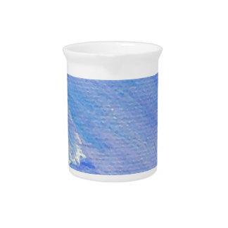 Diseño adaptable abstracto pintado azul jarrón