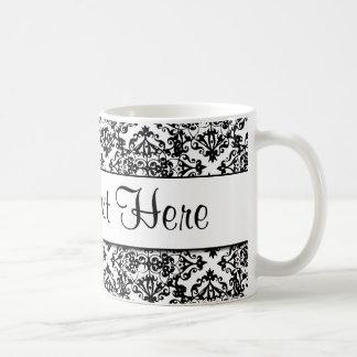 Diseño adaptable blanco y negro taza