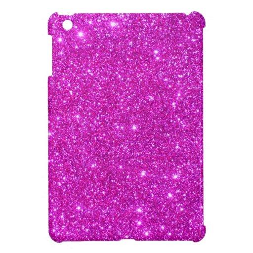 Diseño adaptable de la chispa rosada del brillo iPad mini coberturas