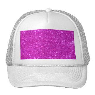 Diseño adaptable de la chispa rosada del brillo gorra