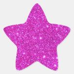 Diseño adaptable de la chispa rosada del brillo colcomanias forma de estrella personalizadas