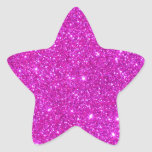 Diseño adaptable de la chispa rosada del brillo pegatina en forma de estrella