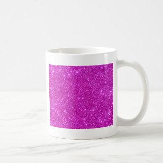 Diseño adaptable de la chispa rosada del brillo taza clásica