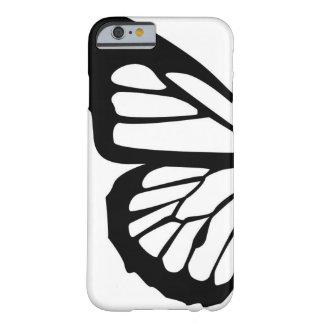 Diseño adaptable de la mariposa estilizada funda de iPhone 6 barely there