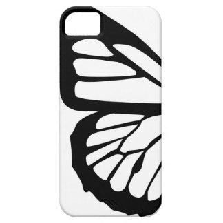 Diseño adaptable de la mariposa estilizada iPhone 5 Case-Mate cobertura