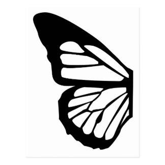 Diseño adaptable de la mariposa estilizada postal