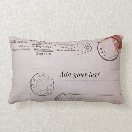 Diseño adaptable de la postal del vintage cojin