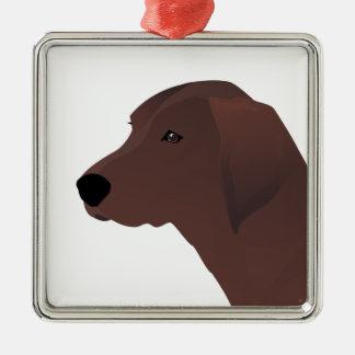 Diseño adaptable de la raza básica del Coonhound Adorno Navideño Cuadrado De Metal