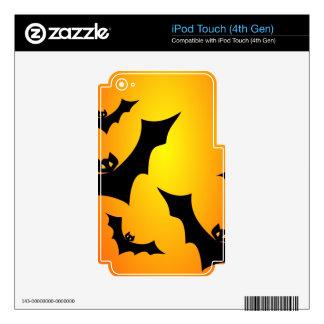 Diseño adaptable de los palos del feliz Halloween Calcomanías Para iPod Touch 4G