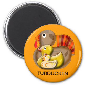 Diseño adaptable de Turducken Imán Redondo 5 Cm