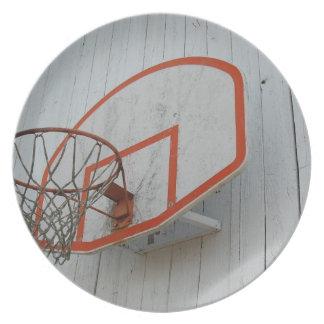 Diseño adaptable del aro de baloncesto platos de comidas
