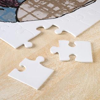 Diseño adaptable del caballo del amor del mustango puzzles con fotos