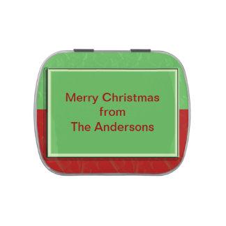 Diseño adaptable del navidad verde rojo simple jarrones de dulces