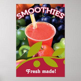 Diseño adaptable del poster del Smoothie