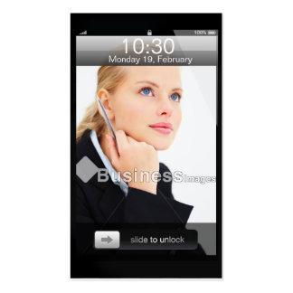 Diseño adaptable profesional del iPhone Plantilla De Tarjeta Personal