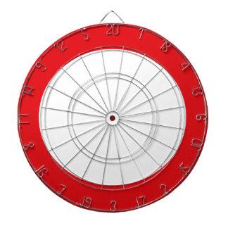 Diseño adaptable simple del círculo de color rojo tablero de dardos