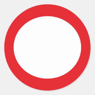 Diseño adaptable simple del círculo de color rojo etiquetas redondas