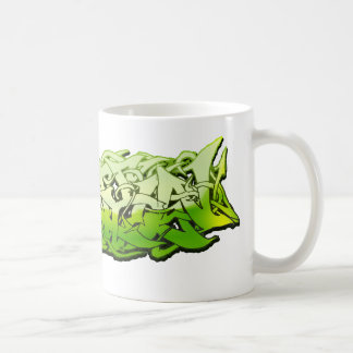 Diseño adaptable verde de Graffitti Tazas