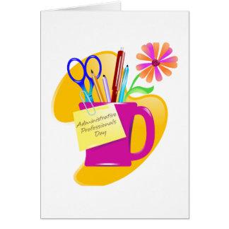 Diseño administrativo del día de los profesionales felicitación