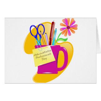 Diseño administrativo del día de los profesionales felicitaciones