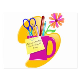 Diseño administrativo del día de los profesionales tarjeta postal