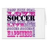 Diseño adorable del fútbol para la meta del retroc tarjeta