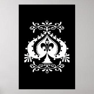 Diseño adornado de la espada póster