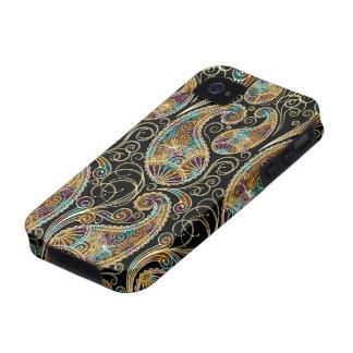 Diseño adornado de Paisley del vintage colorido iPhone 4 Carcasas