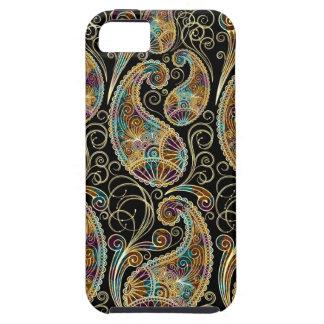 Diseño adornado de Paisley del vintage colorido iPhone 5 Case-Mate Carcasa