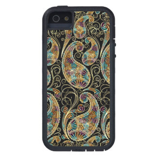 Diseño adornado de Paisley del vintage colorido iPhone 5 Case-Mate Cárcasa