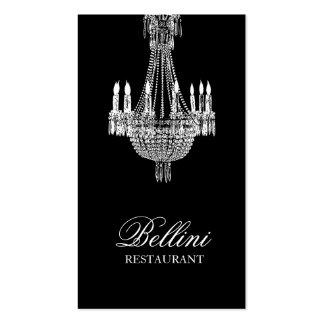 Diseño adornado del negro de la lámpara tarjetas de visita