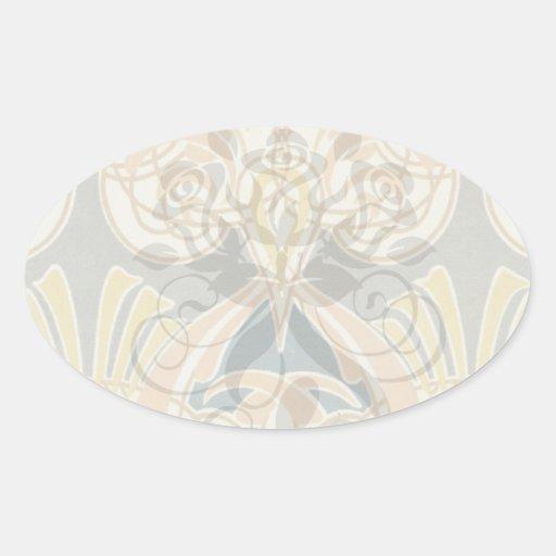 diseño adornado del royale del nouveau del arte colcomanias de ovaladas