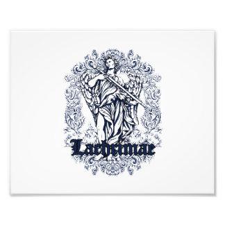 diseño afectado azul de los lachrimae cojinete