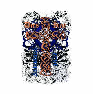 Diseño afectado cruz céltica del nudo esculturas fotograficas
