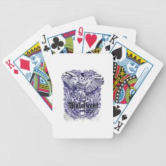 diseño afectado mafeficent del búho cartas de juego